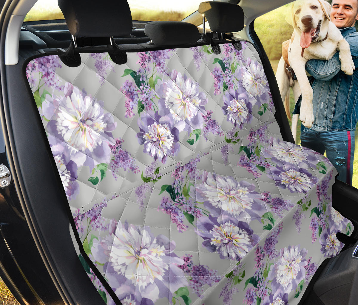 Lilac Pattern Print Design LI07 Rear Dog  Seat Cover