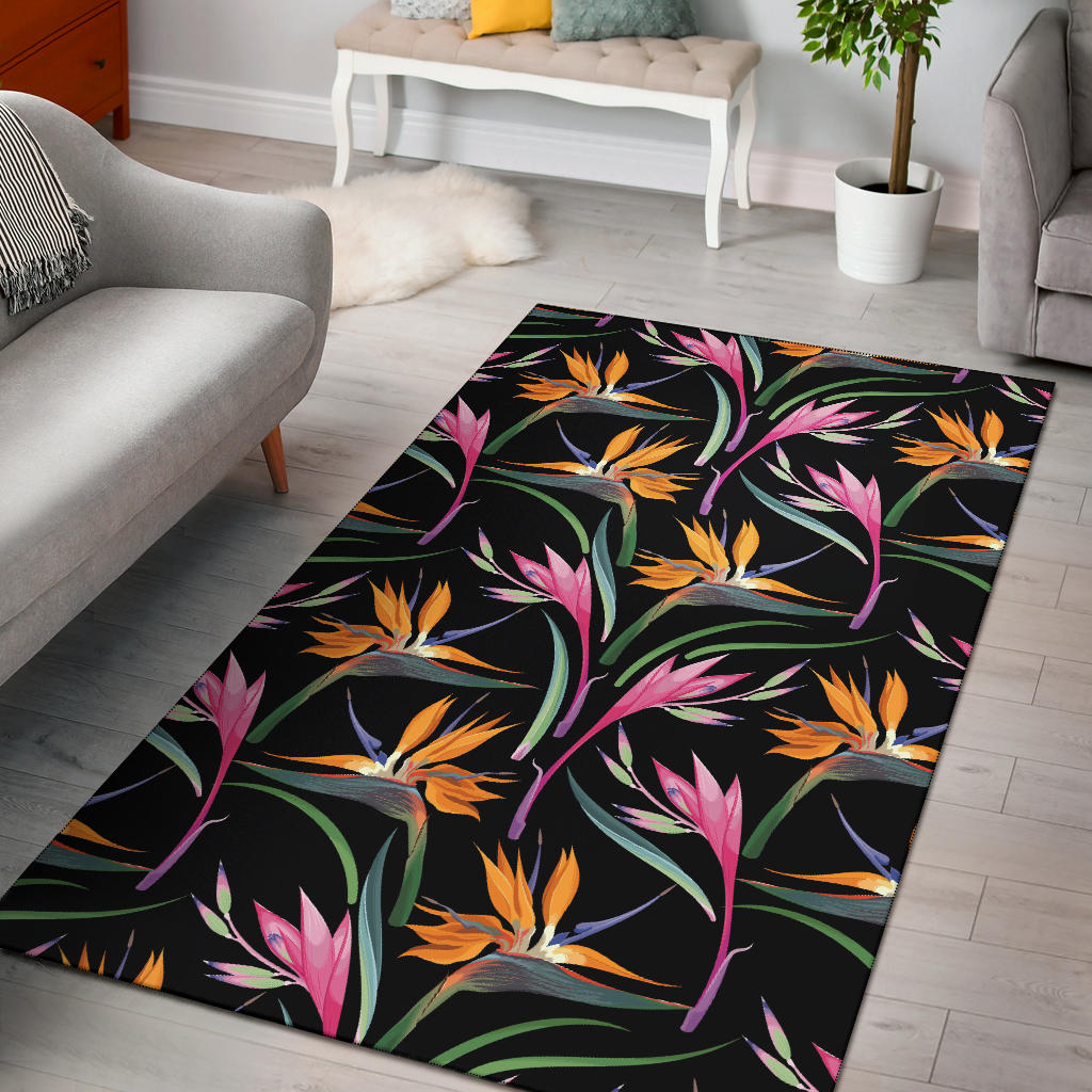 Tropical Flower Pattern Print Design TF017 Area Rugs