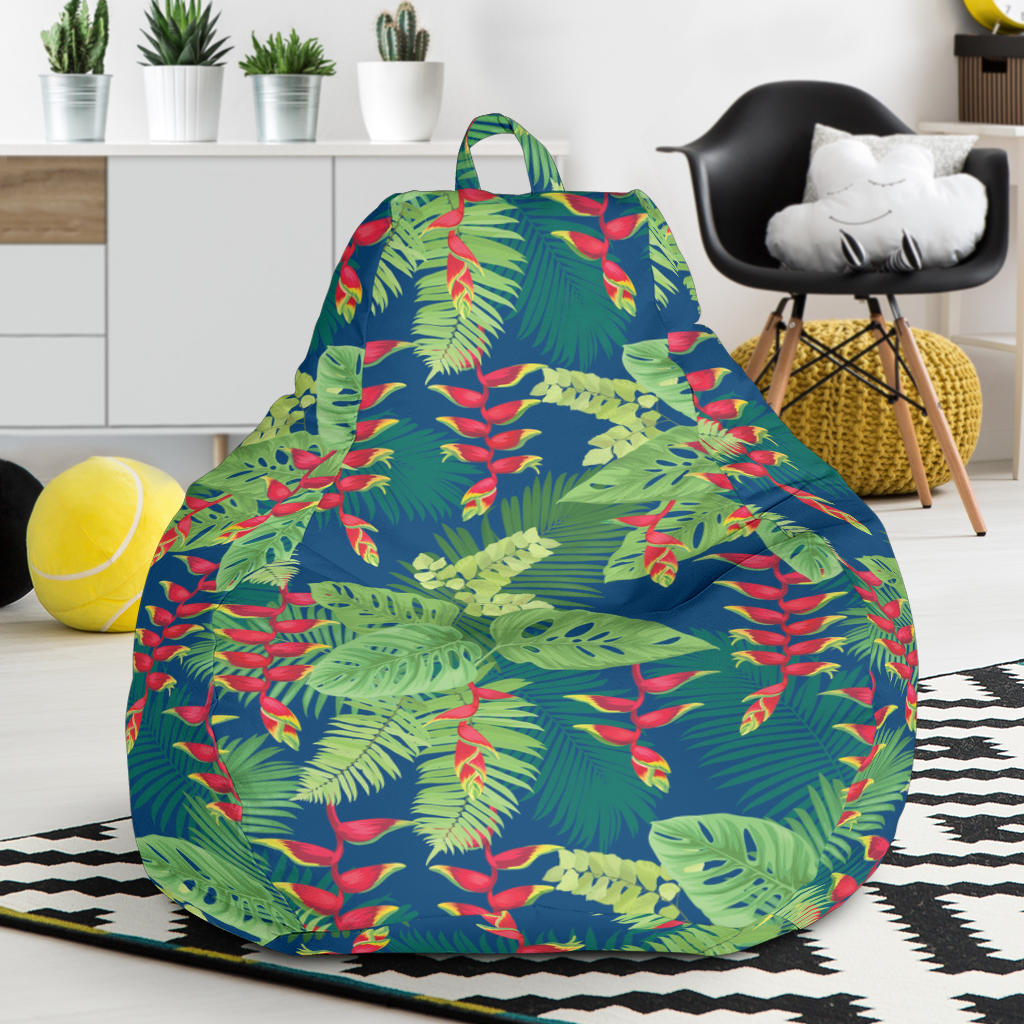 Heliconia Pattern Print Design HL08 Bean Bag Chairs