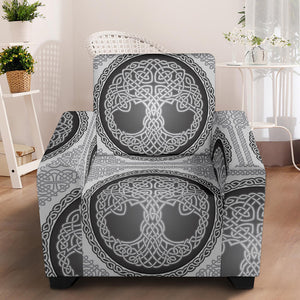 Celtic Tree of life Print Armchair Slipcover