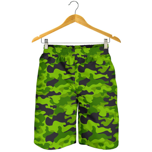 Green Kelly Camo Print Mens Shorts