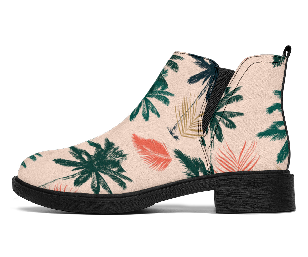 Palm Tree Pattern Print Design PT014 Ankle Boots