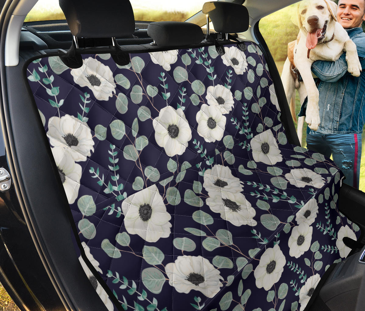 Anemone Pattern Print Design AM01 Rear Dog  Seat Cover