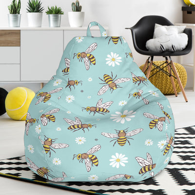 Bee Pattern Print Design BEE010 Bean Bag Chairs