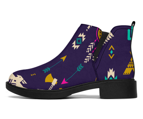 Native American Eagle Indian Pattern Ankle Boots