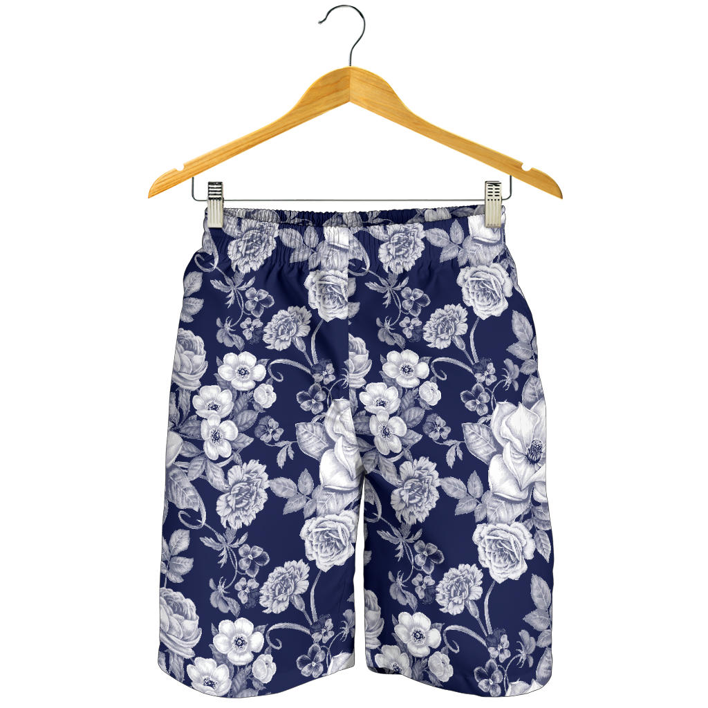 Floral Infrared Pattern Mens Shorts
