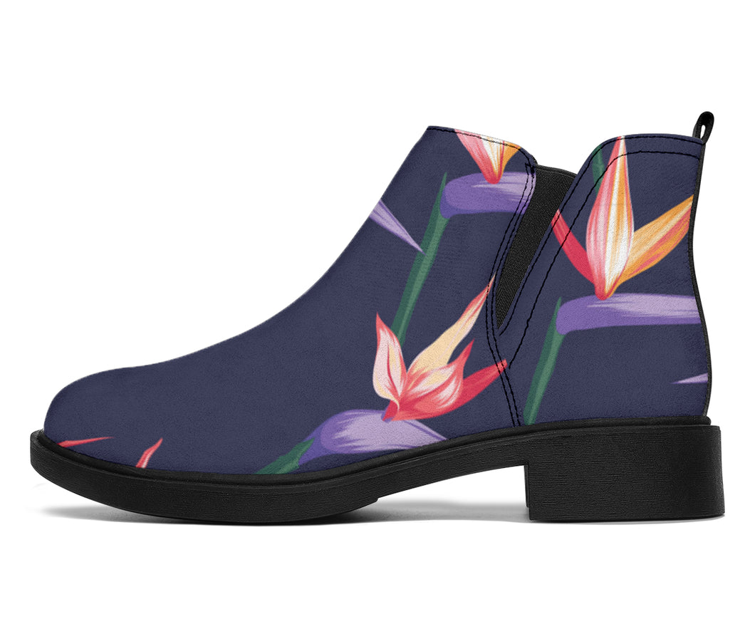 Bird Of Paradise Pattern Print Design BOP015 Ankle Boots