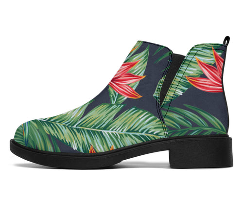 Bird Of Paradise Pattern Print Design BOP09 Ankle Boots