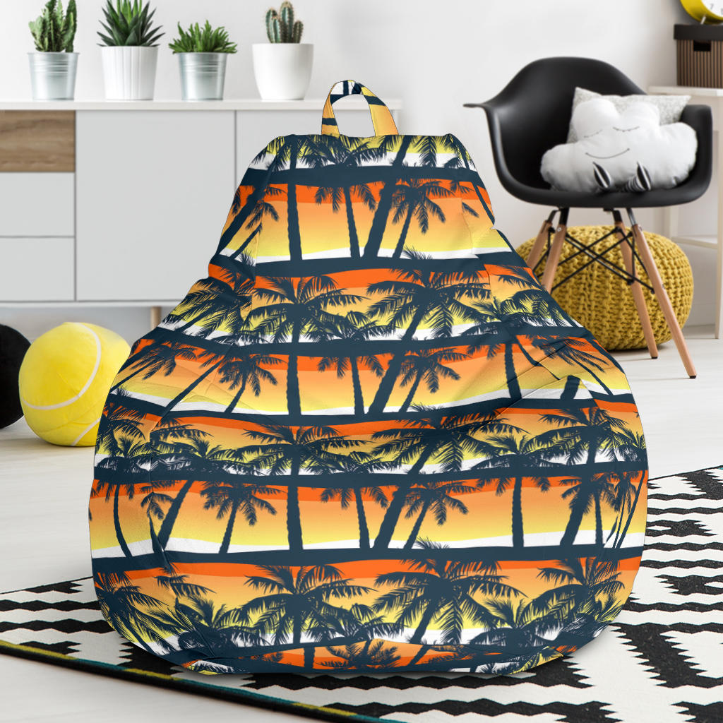 Palm Tree Pattern Print Design PT011 Bean Bag Chairs