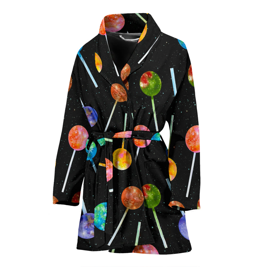 Lollipop Pattern Print Design LL04 Women Bathrobe