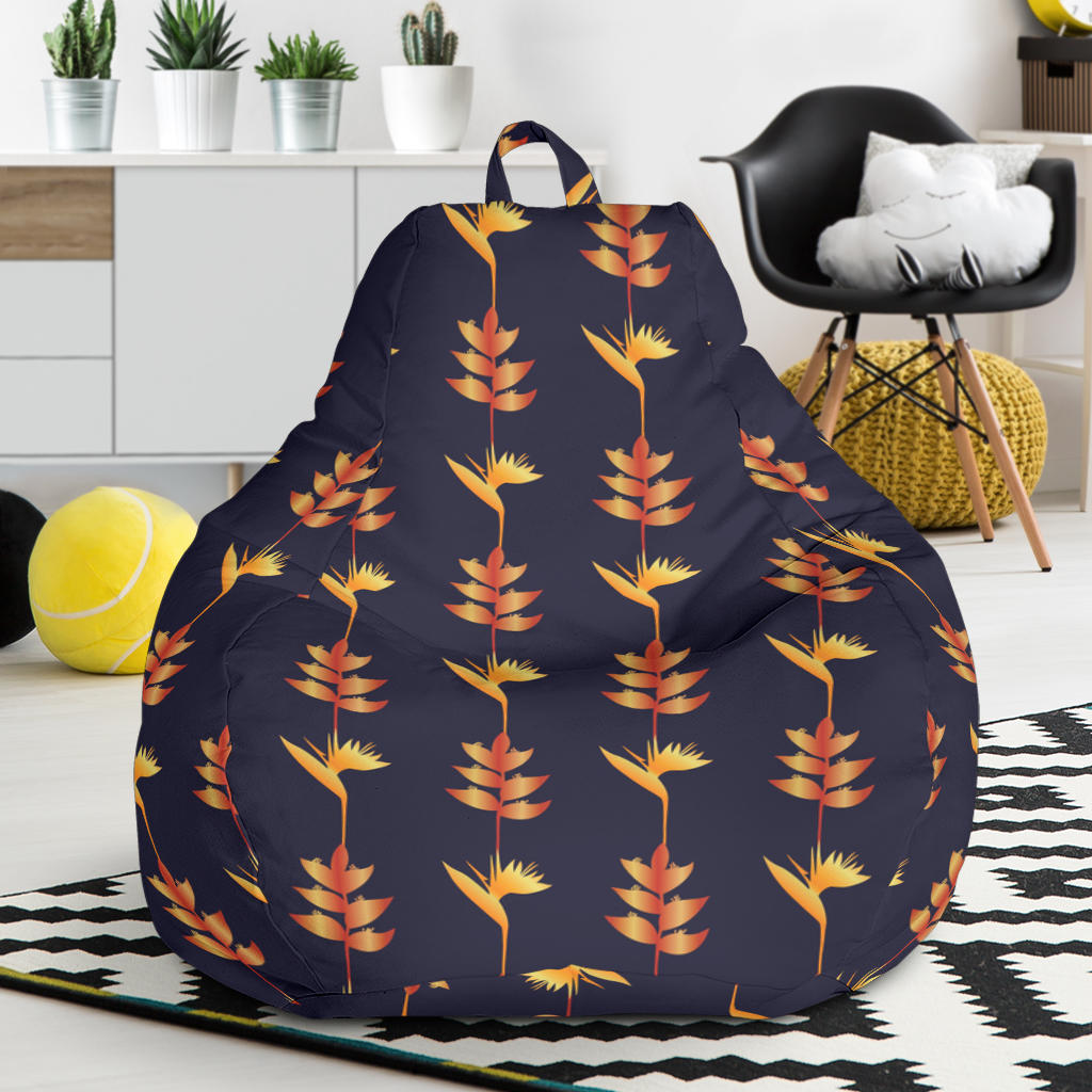 Heliconia Pattern Print Design HL06 Bean Bag Chairs