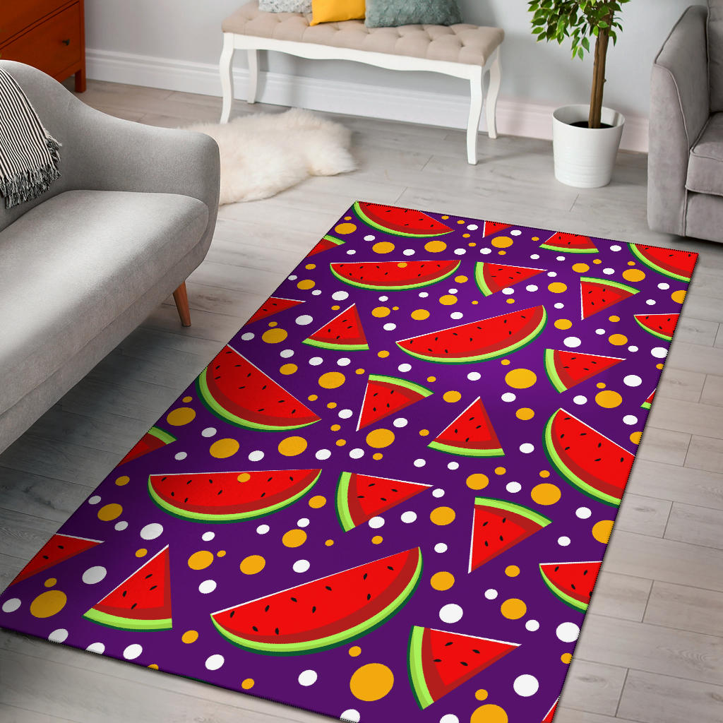 Watermelon Pattern Print Design WM010 Area Rugs