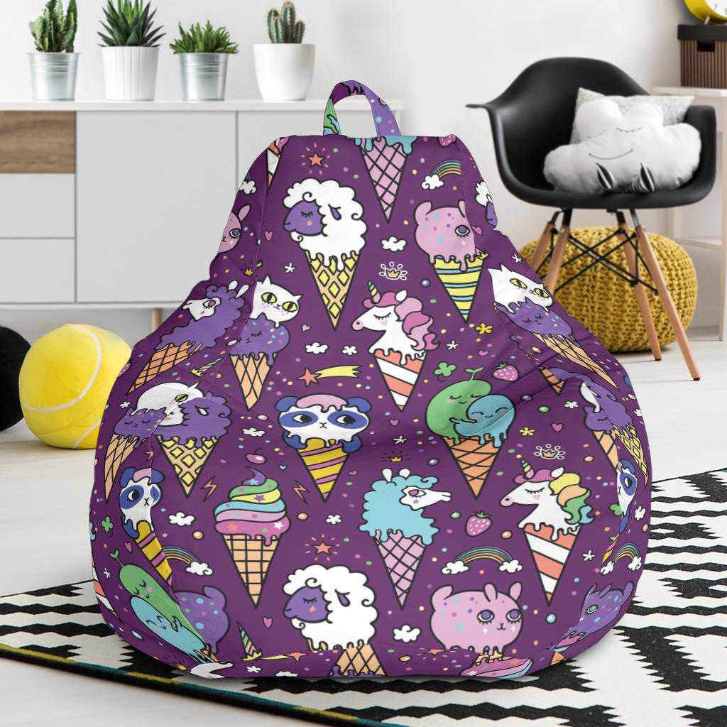 Ice Cream Pattern Print Design IC07 Bean Bag Chairs