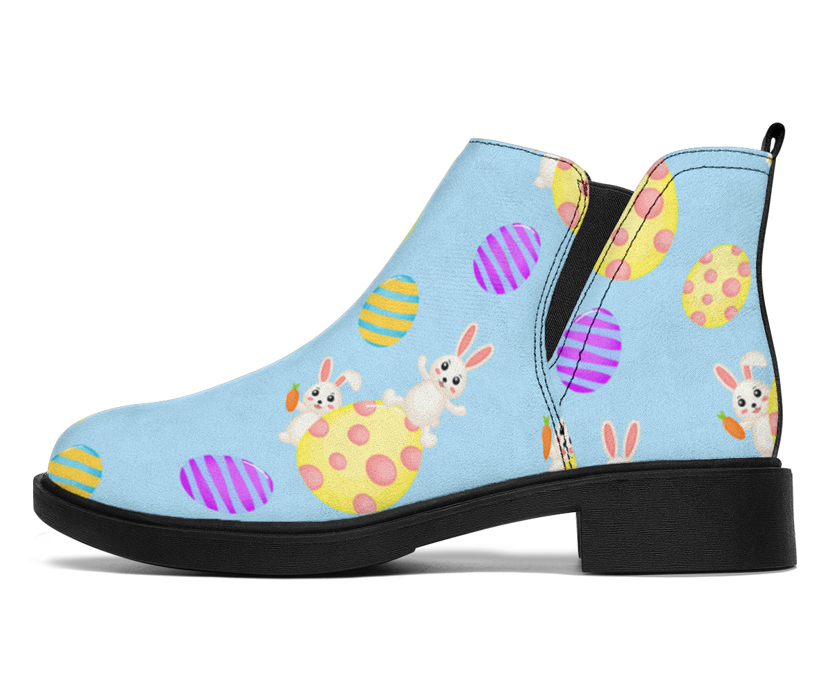 Easter Eggs Pattern Print Design RB015 Ankle Boots