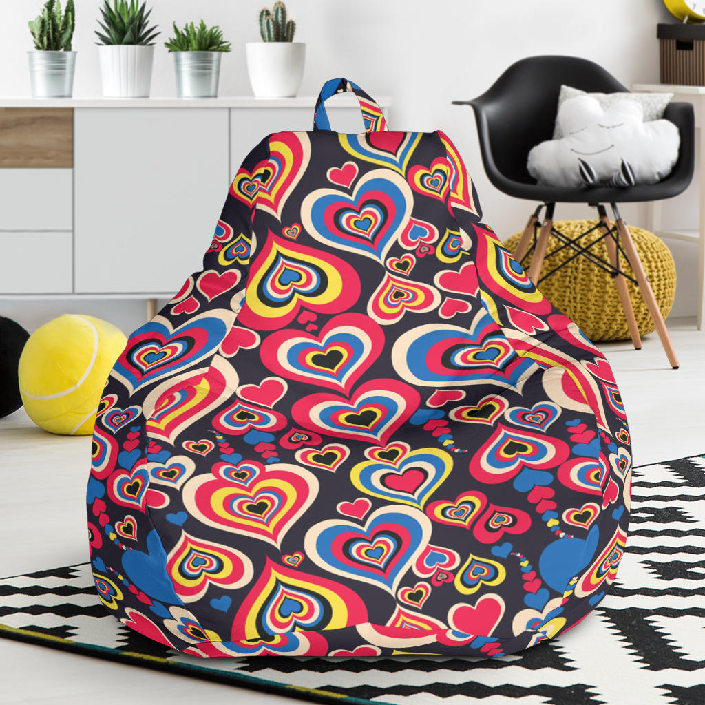 Heart Pattern Print Design HE08 Bean Bag Chairs
