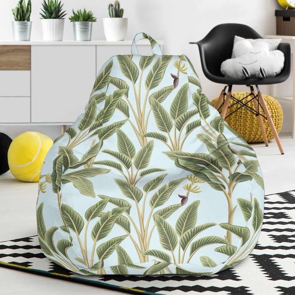 Banana Leaf Pattern Print Design BL03 Bean Bag Chairs