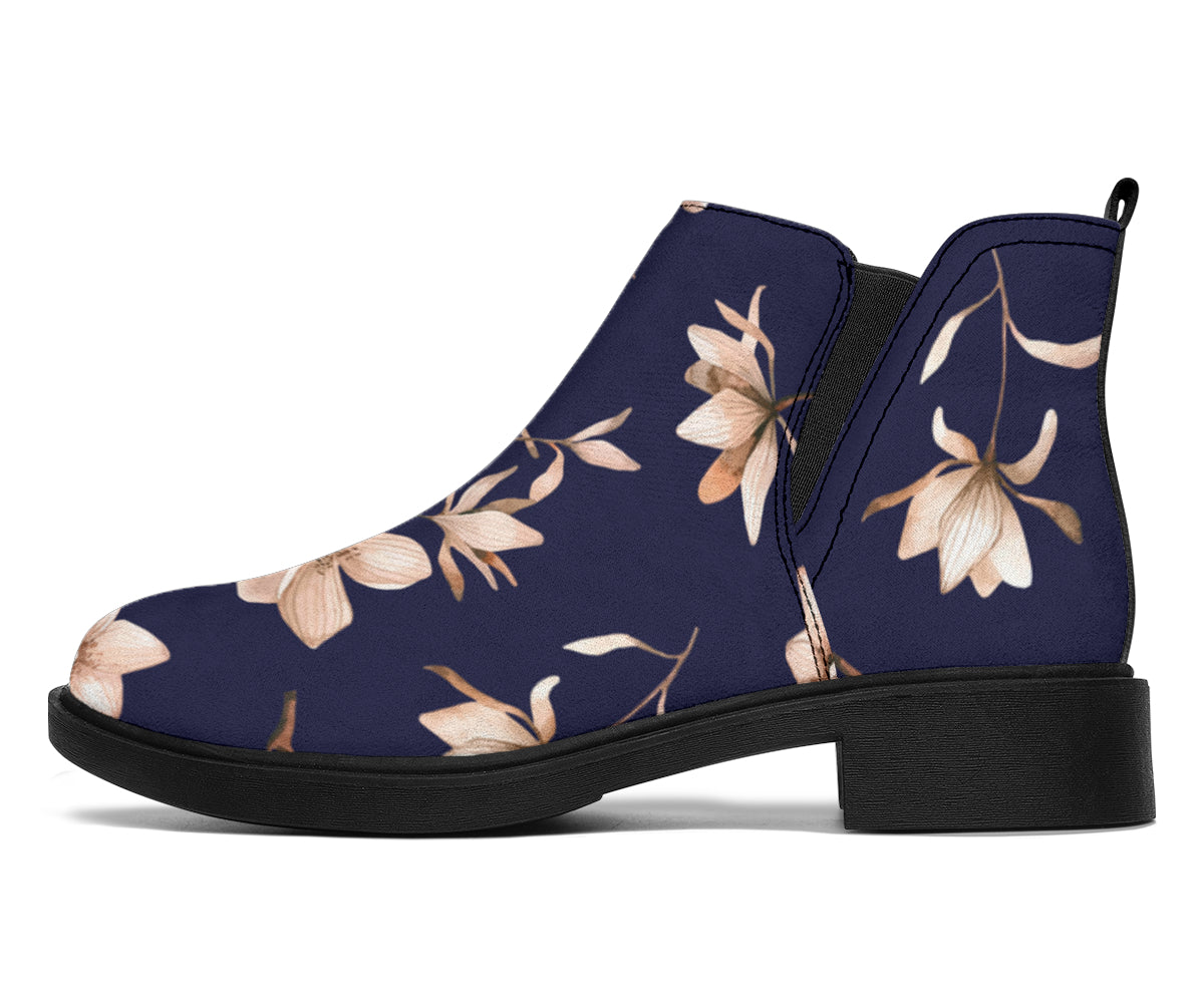 Beautiful Floral Pattern Ankle Boots