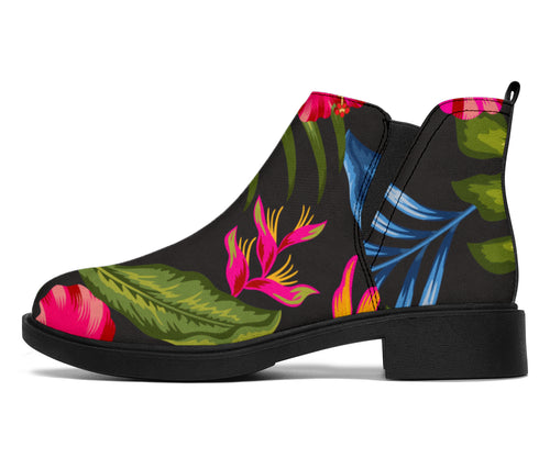 Bird Of Paradise Pattern Print Design BOP014 Ankle Boots