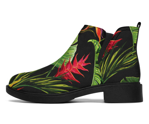 Bird Of Paradise Pattern Print Design BOP010 Ankle Boots