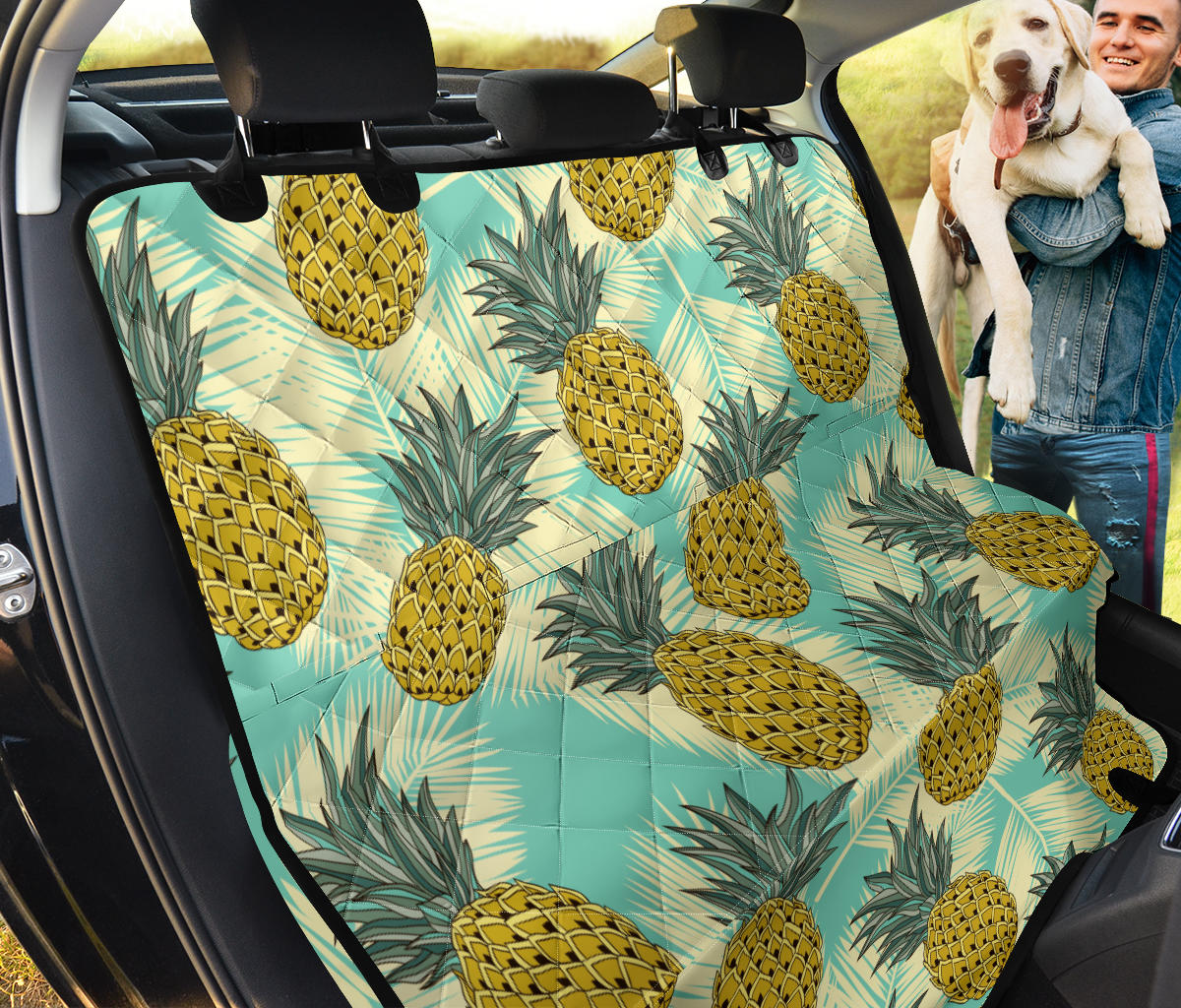 Pineapple Pattern Print Design PP03 Rear Dog  Seat Cover