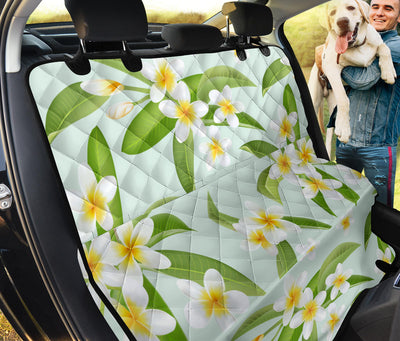 Yellow Plumeria Pattern Print Design PM024 Rear Dog  Seat Cover