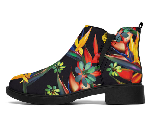 Bird Of Paradise Pattern Print Design BOP016 Ankle Boots