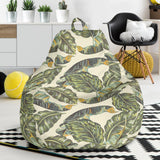 Banana Leaf Pattern Print Design BL08 Bean Bag Chairs