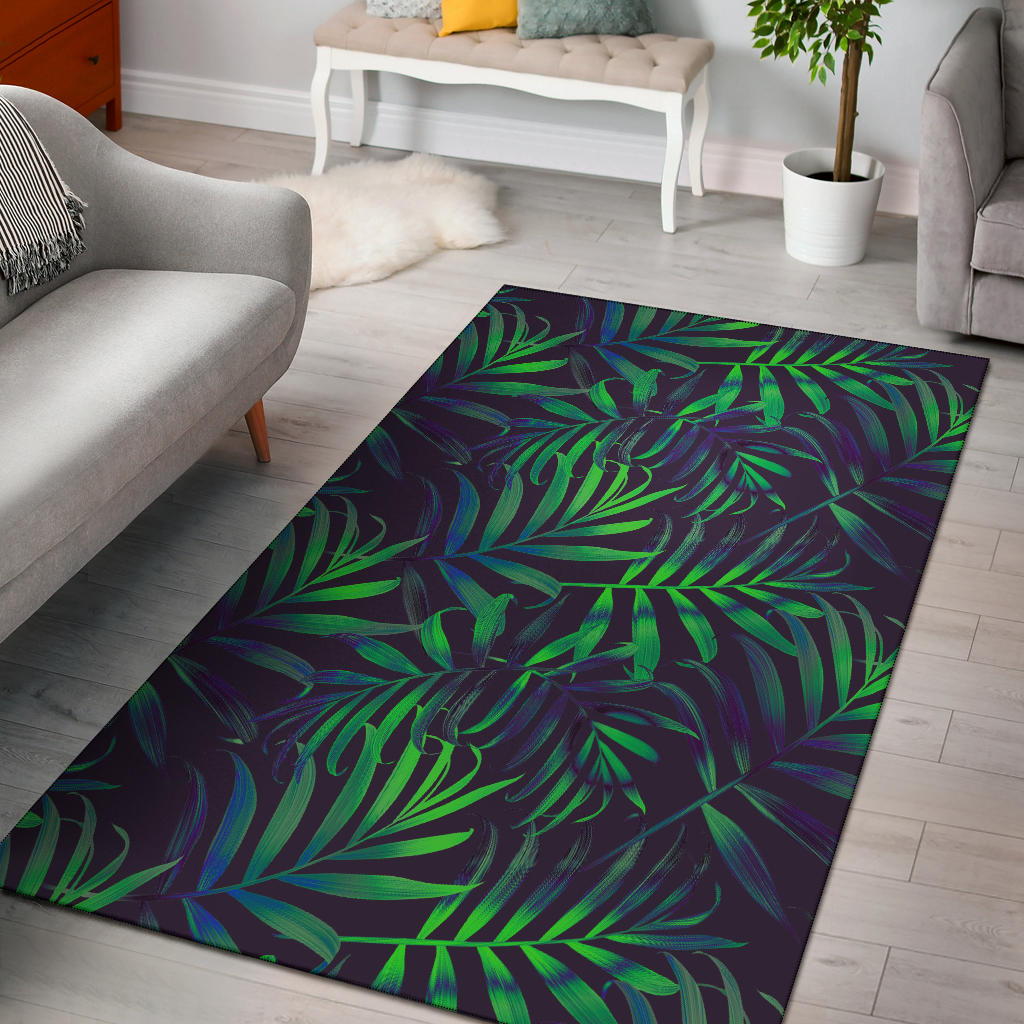 Palm Leaves Pattern Print Design PL01 Area Rugs
