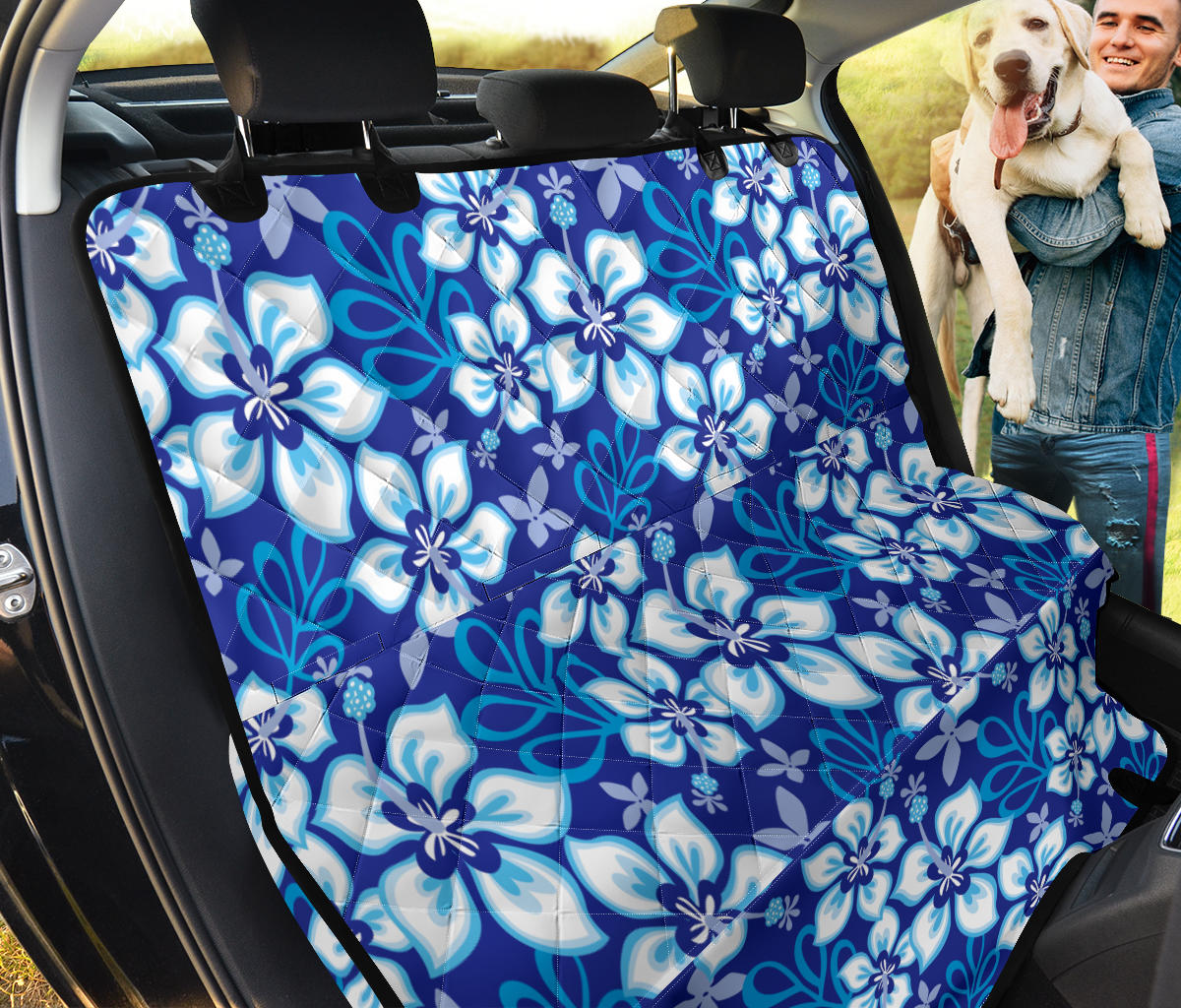 Hibiscus Pattern Print Design HB04 Rear Dog  Seat Cover