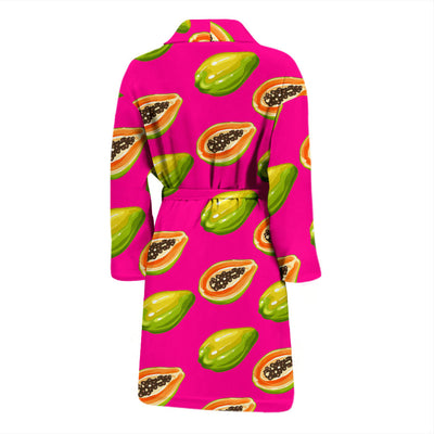 Papaya Pattern Print Design PP02 Men Bathrobe