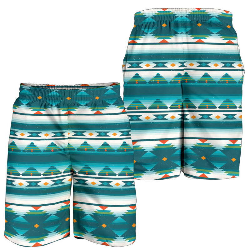 Blue Tribal Aztec Mens Shorts
