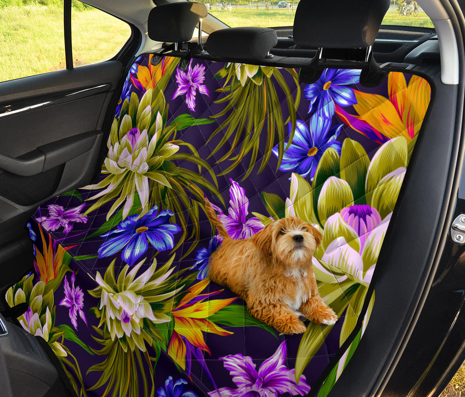 Water Lily Pattern Print Design WL08 Rear Dog  Seat Cover