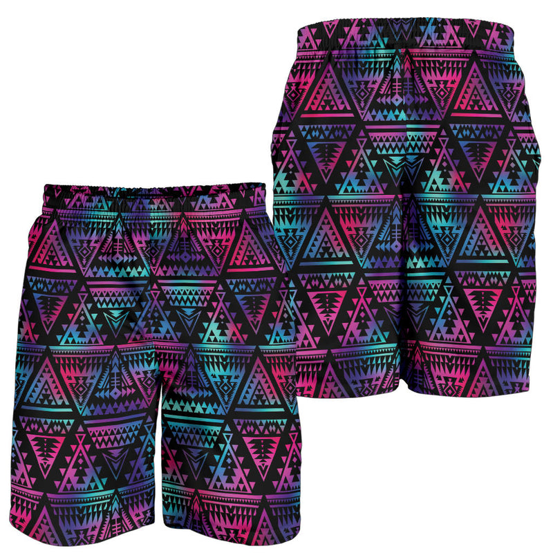 Tribal aztec Dark Multicolor Mens Shorts