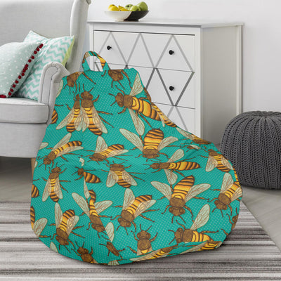 Bee Pattern Print Design BEE04 Bean Bag Chairs