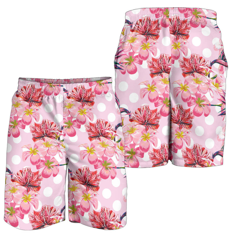 Bird Of Paradise Pattern Print Design BOP011 Mens Shorts
