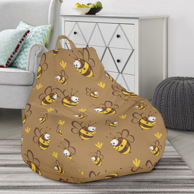 Bee Pattern Print Design BEE09 Bean Bag Chairs