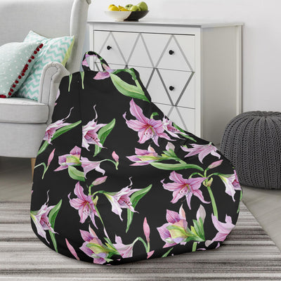 Amaryllis Pattern Print Design AL08 Bean Bag Chairs