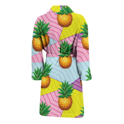 Pineapple Pattern Print Design PP05 Men Bathrobe