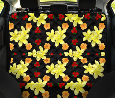 Yellow Plumeria Pattern Print Design PM04 Rear Dog  Seat Cover