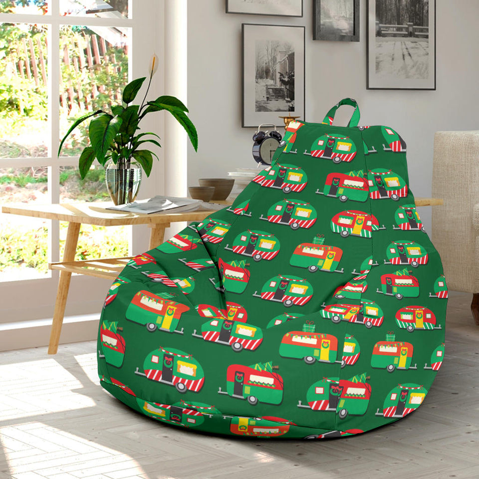 Camper Camping Christmas Themed Print Bean Bag Chairs