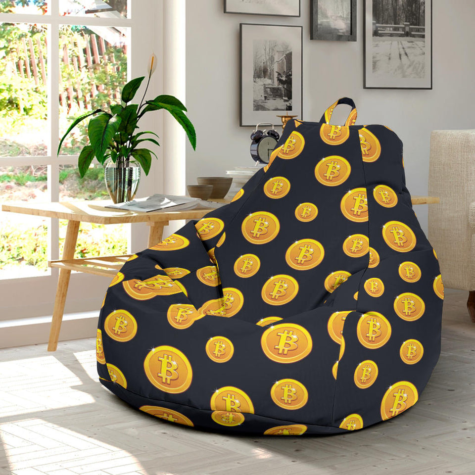 Bitcoin Pattern Print Design DO04 Bean Bag Chairs