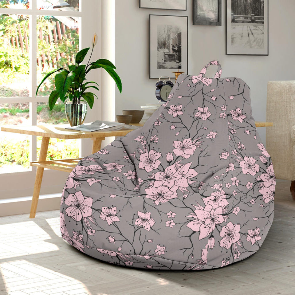 Cherry Blossom Pattern Print Design CB05 Bean Bag Chairs