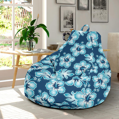 Blue Hibiscus Pattern Print Design HB011 Bean Bag Chairs