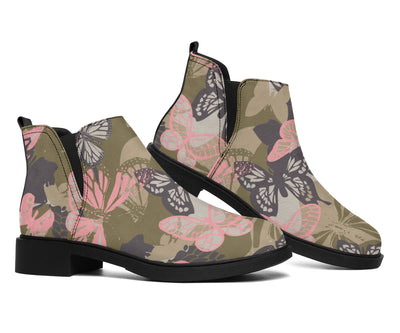 Butterfly camouflage Ankle Boots