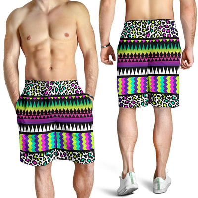 Animal Skin Aztec Rainbow Mens Shorts