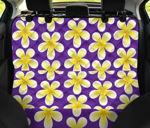 Yellow Plumeria Pattern Print Design PM05 Rear Dog  Seat Cover