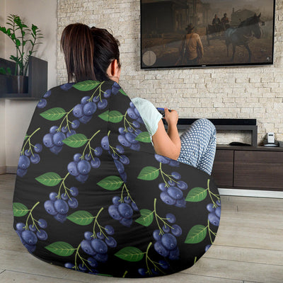 Blueberry Pattern Print Design BB01 Bean Bag Chairs