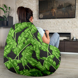 Banana Leaf Pattern Print Design BL01 Bean Bag Chairs
