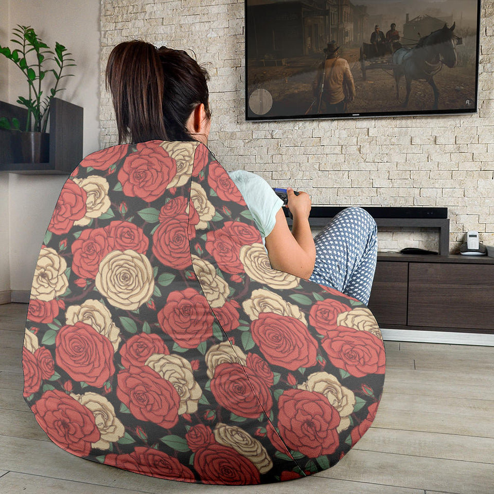 Camellia Pattern Print Design CM01 Bean Bag Chairs