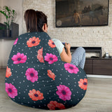 Anemone Pattern Print Design AM08 Bean Bag Chairs